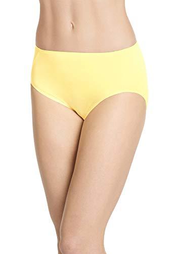 Jockey Women's Underwear Air Soft Touch Hi Cut, Crystal Yellow, M (Yellow Womens Underwear)