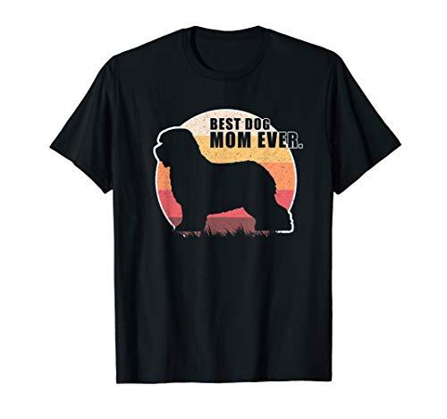 Vintage Retro Best Dog Mom Ever Old English Sheepdog T shirt