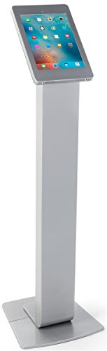 Displays2go Silver Floorstanding iPad Mounts, Floor Standing, Rotating Design, Cable Management, Aluminum – Silver (IPROSTNSV2) by Displays2go (Image #4)'