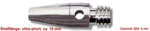 Eje Alu Ultra Short, ca, 15 mm, rosca de plata: 2BA, 6 mm, Precio (3 pcs) por Set WinSport