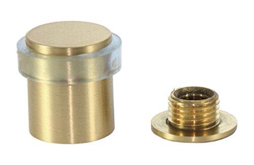 EVI Herrajes I-180-TCB - Butoir de porte, pack de 2 unités, finition laiton mat (laiton) caoutchouc transparent 040180TCB2UMT