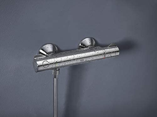 GROHE Mitigeur thermostatique Douche Grohtherm 800 34562000 /& Flexible de douche Twistfree 1750 Silverflex 28388000