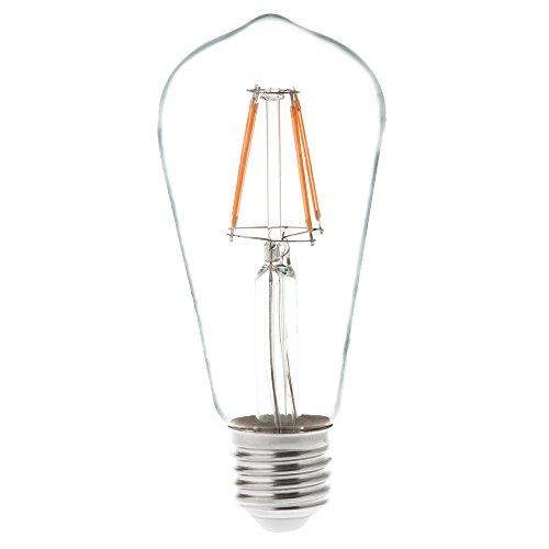 HERO-LED ST18-DS-4W-WW27 Dimmable ST18 E26/E27 4W Edison Style LED Vintage Antique Filament Bulb, 40W Equivalent, Warm White 2700K, 4-Pack