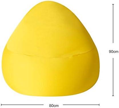 折りたたみソファ 柔らかいマイクロファイバーカバーの記憶泡の家具のビーン袋の大きいソファーを使って (色 : 黄)