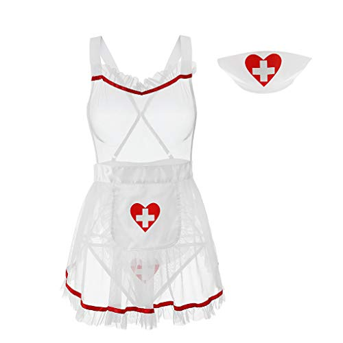 Eromate Sexy Nurse Costume For Women Mini