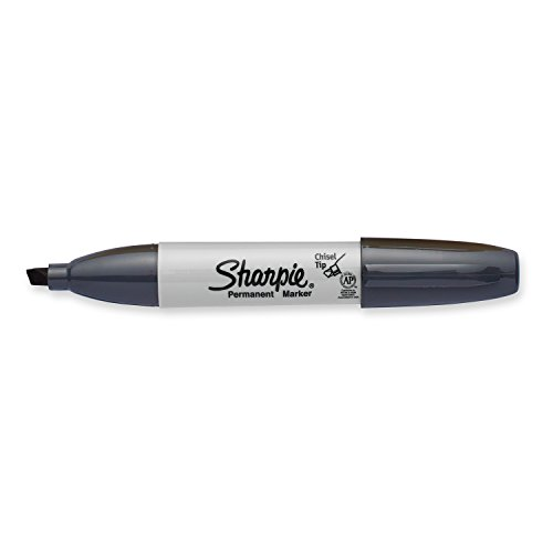 Sharpie Permanent Markers, Broad, Chisel Tip, Single, Slate Gray (1927296)]()