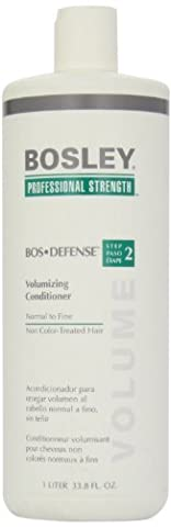 Bosley Bos-Defense Volumizing Conditioner, Normal To Fine Non Color-Treated Hair, 33.8 Ounce (Bosley Hair Conditioner)