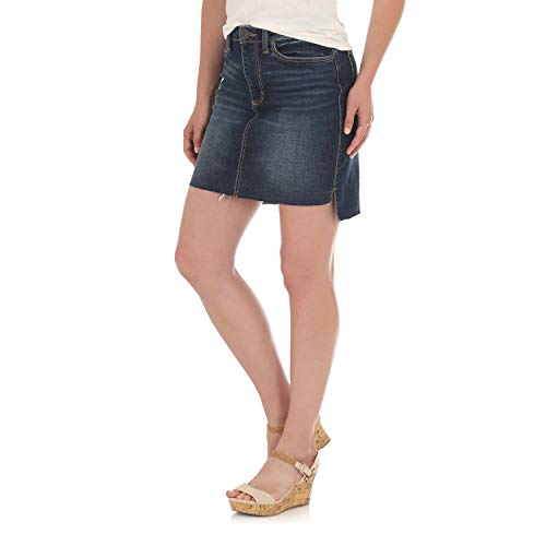 Wrangler Women's Retro Mae Mid Rise Stretch Jean Skirt, Cowtown, 5