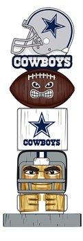 Officially Licensed Dallas Cowboys Tiki Totem Lawn Garden (Talismans Totem)