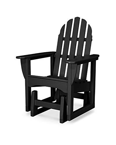 POLYWOOD ADSGL-1BL Classic Adirondack Glider Chair, Black