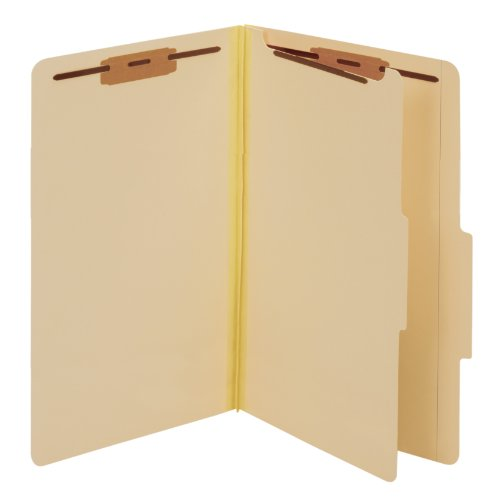 (Globe-Weis/Pendaflex Classification Folders, 2/5 Cut Tab, 1 Divider, Bonded Fasteners, Legal Size, Manila, 10 Folders Per Box (98621GW))