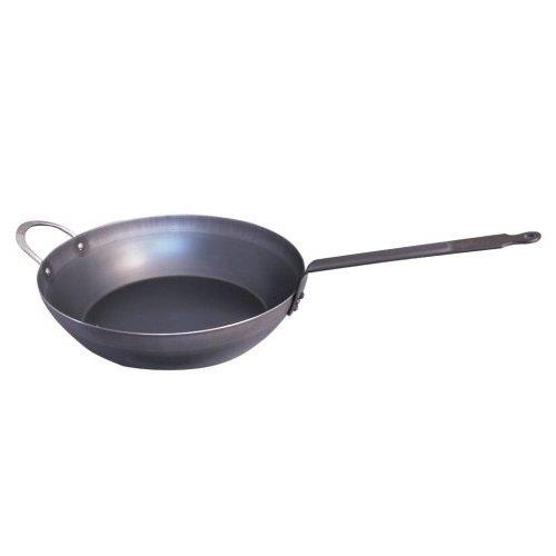 De Buyer Force Blue Country Chef's Pan Blue Steel, 12.6-in