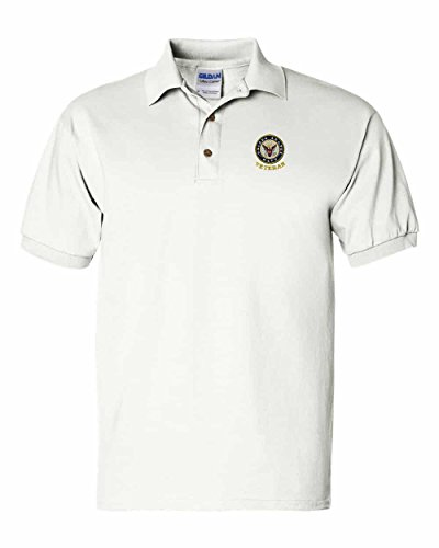 (US Navy Veteran Custom Personalized Embroidery Embroidered Golf Polo Shirt)