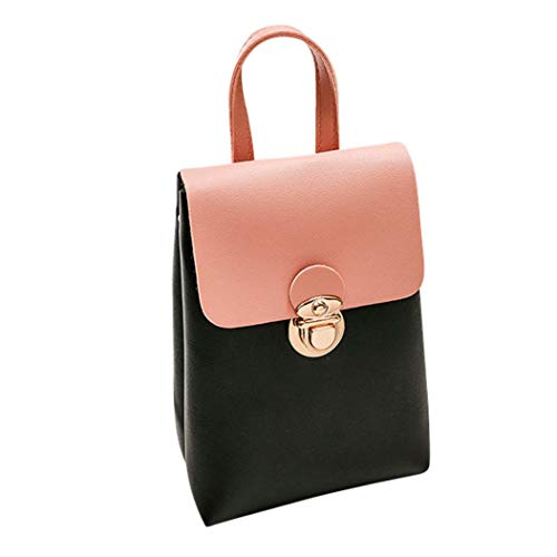 Bag Tote Bag Women Pink EUzeo Messenger Hit Color Shoulder Crossbody Satchel Bag Phone PgUBwqO
