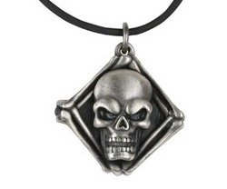 YTC Summit Skull Guitar Pendant Collectible Medallion Necklace Accessory (Skull Guitar Pendant)