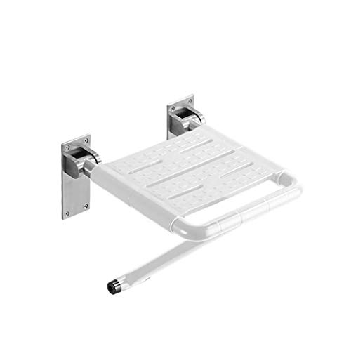 BEAUTY--shower stool Bathroom Elderly Folding Wall Stool Shower Room Widening Security/Anti-Skid, 2 Colors to Choose from (Color : White) by BEAUTY--shower stool (Image #4)