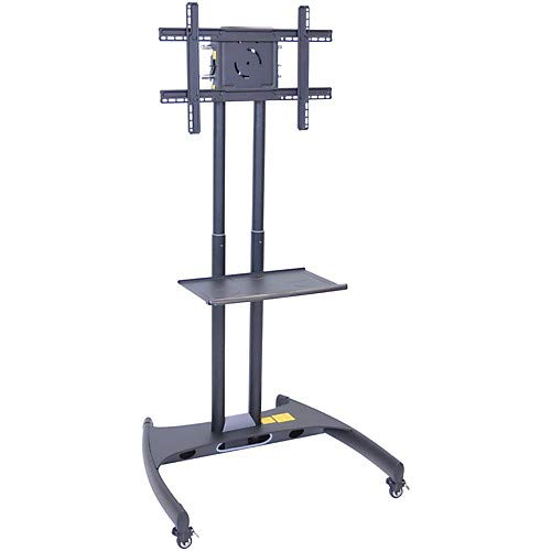 Luxor Instrument Carts - Luxor Adjustable Flat Panel Cart with Shelf