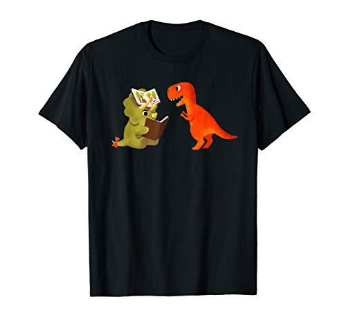 Cute Dinosaurs Book T-Shirt