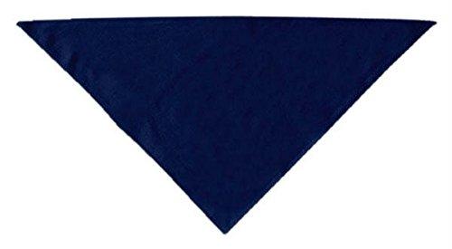 Mirage Pet Products Plain Bandana, Large, Navy Blue