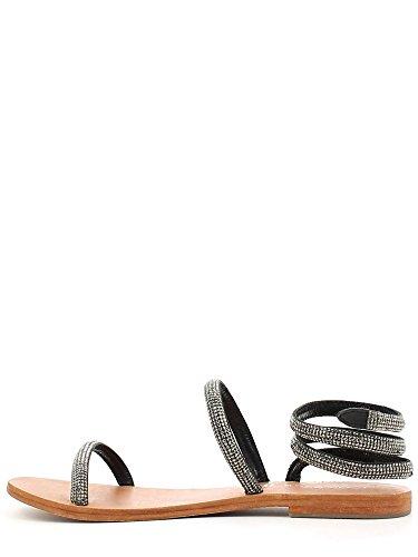 Sandalo schiava in laminato Cafè Noir art.GF911 Asfalto 36
