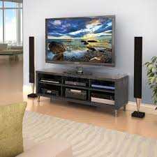 Amazon Com Valhalla Broadway Black Laminated 54 Inch Tv Stand With