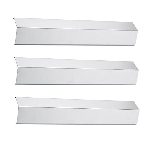 Pitmasters Supply Stainless Steel Heat Plate Replacement, Heat Shield, Heat Tent Diffuser Deflector for 95051 Chargiller Gas Grill Models (3-pack)