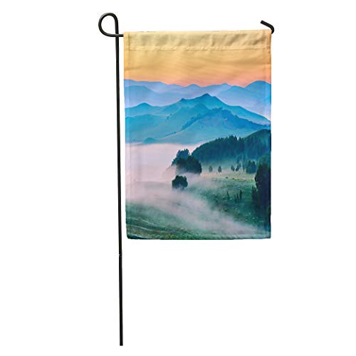 (Semtomn Garden Flag Sunset The Landscape of Meadow Steppe Wulanbutong Grassland Summer Sunrise Home Yard House Decor Barnner Outdoor Stand 12x18 Inches Flag)