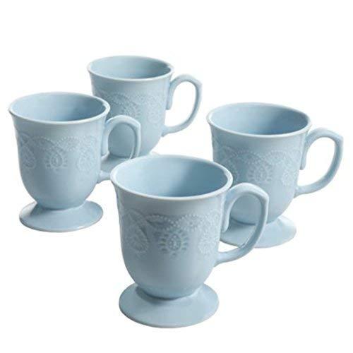 The Pioneer Woman Cowgirl Lace 4-Piece Mug Set, Light -