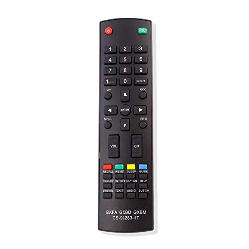 New 4-in-1 Remote Control GXFA GXBD GXBM CS-90283-1T Fit for Sanyo TV DP32242 DP55441 DP46142 DP40142 DP42142 DP32640 DP42740 DP42841 DP46841 DP50741 DP50842 DP24E14 DP42D24 DP50E44 DP55D44 DP58D34 -
