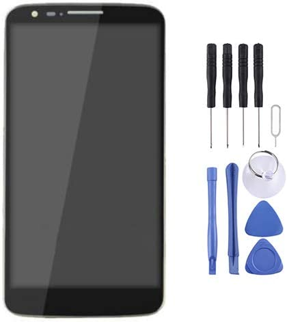 LCD Screen Mobile Phone LCD Display Color : Black Touch Panel with Frame for LG G2 // D801 // D800 // D803 Black