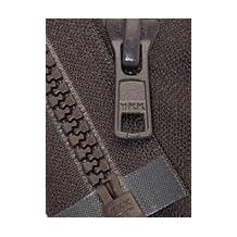 "25\"" Vislon Zipper ~ YKK #5 Molded Plastic Sport Zipper ~ Separating - 917 Dark Chocolate Brown (1 Zipper/ Pack)"