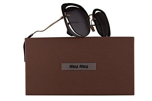 Miu Miu MU54SS Sunglasses Pale Gold w/Violet Gradient Mirror 64mm Lens ZVNAD6 SMU 54S SMU54S MU - Sunglasses New Miu Miu