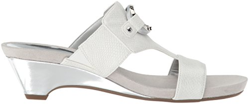 Off Women's White Anne Synthetic Sandal Teela Wedge Klein SXWgag5q4