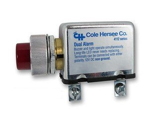 (Cole Hersee 4112-Rc000 Buzzer W/ Red Pilot Light 12V Dual Alarm)