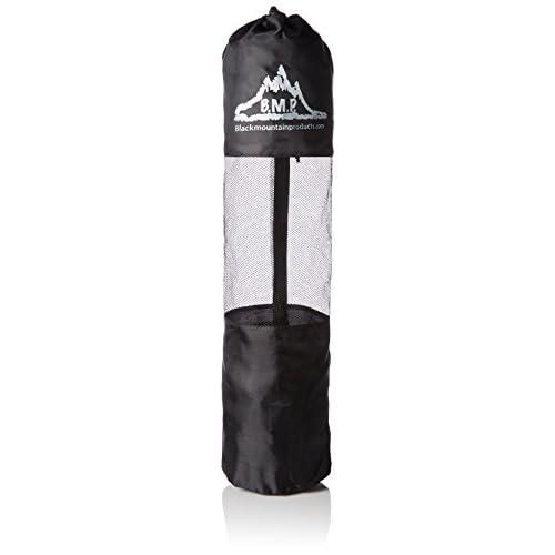 Black Mountain Products Sac pour tapis de yoga avec sangle de transport - Noir