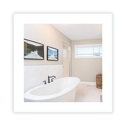 LED Side-Lighted Bathroom Vanity Mirror: 30' Wide x 30' Tall - Commercial Grade - Square -...