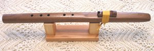 Native American Style Windpony Key of A 5-hole Walnut Flute
