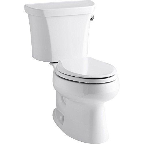 Kohler K-3978-RA-0 Wellworth Elongated 1.6 gpf Toilet, Right-Hand Trip Lever, White