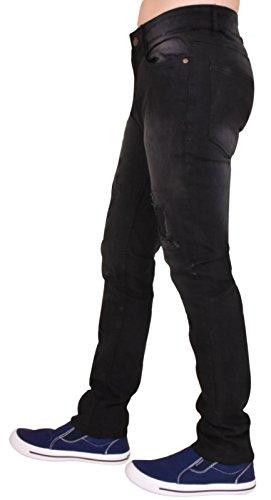 Jeans Black Uomini G72 Riparazione Rip Dritto Gamba Sottile E Denim q448Fdxwz