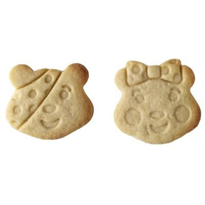 2 x Children In Need Pudsey Bear & Blush Bear Charity Cookie Cutter & Stamps