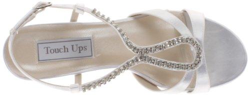 Bernie Toucher Satin Femmes Ups Sandale Blanc Sandale De Toucher Coin qffIBx