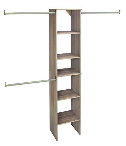 ClosetMaid 58881 SuiteSymphony 16-Inch Starter Tower Kit, Natural Gray by ClosetMaid