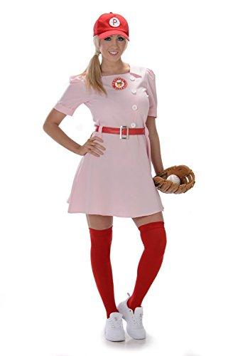 [Rockford Peaches Baseball Uniform Adult Costume: X-Large] (Baseball Bat Man Costume)