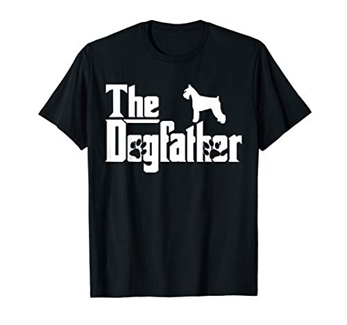 The Dogfather Miniature Schnauzer Funny Dog Owner T-Shirt