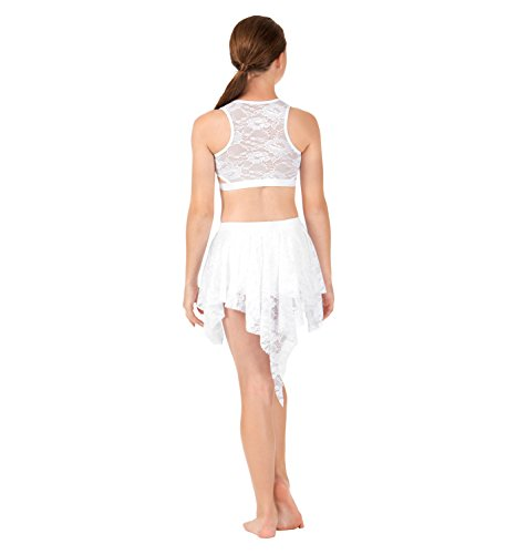 Body Wrappers Girls Lace Back Tank Dance Crop Top (LC1023) -Mauve -6X-7 by Body Wrappers (Image #4)