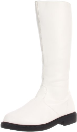 Funtasma Men's Captain-100/W/PU Knee-High Boot,White Polyurethane,13 M US