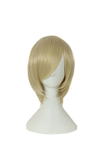 ICOSER Anime Cosplay Short Party Wigs for Women Synthetic Hair (Blond) by i-coser (Image #4)