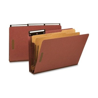ssification File Folder with SafeSHIELD Fasteners and 1/3-Cut Flat Metal Tab, 2 Dividers, 2