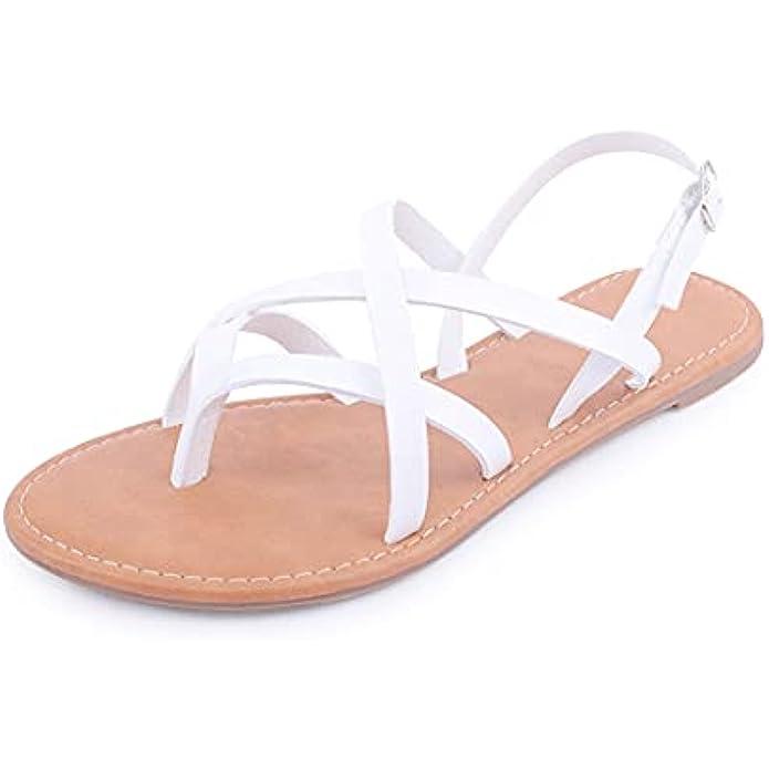 Women's Gladiator Flat Sandals Fisherman Strappy Sandals Ankle Strap Sandals