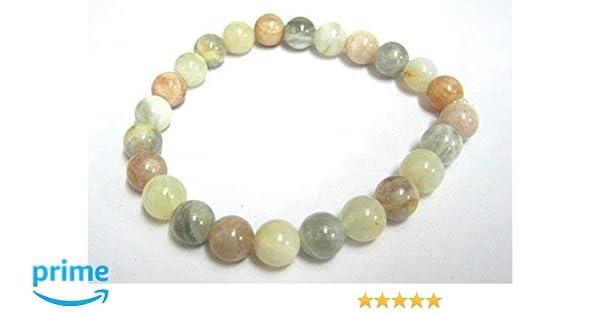 df248db9a381 Beautiful potente piedra lunar redondo pulsera de perlas de Gemstone  Fashion Wiccan joyas cristal curación regalo bienestar Meditación energía  ...